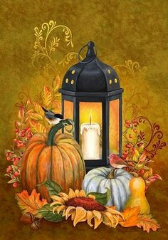 Beautiful arrangement for Fall. I couldn't find an artist. The picture is so bea.-- Beautiful arrangement for Fall. I couldn't find an artist. The picture is so beautiful. Autumn Painting, Autumn Art, Tole Painting, Painting & Drawing, Fall Paintings, Painting Pumpkins, Fall Pictures, Harvest Pictures, Fall Harvest