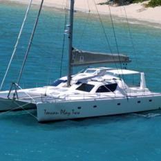 VOYAGE 580 catamaran for charter in Sopers Hole, Tortola, BVI