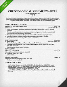 sample of a chronological resume