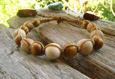 Petrified Wood Shambella Bracelet / Mala Bracelet / Mens