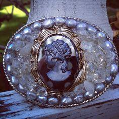 Vintage cameo buckle