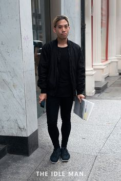 Men's street style, all black everything | The Idle Man