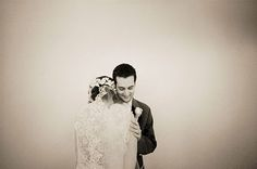 WEDDINGS – norrisphoto #norrisphoto - Los Angeles professional photographer captures the beautiful bride as she leans into her groom. The black and white tones and vignette give the photo a classic, vintage style look. Simple, romantic and elegant. Just the way we like it. #vintagestyleweddingphotography #sepiaweddingphoto #laceweddingveil