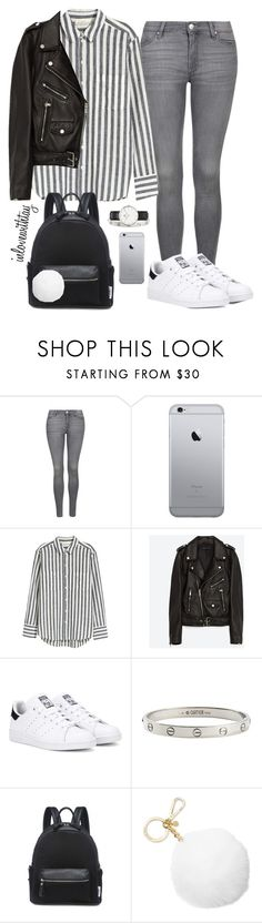 """77❤"" by inlovewithtay on Polyvore featuring mode, Topshop, H&M, Jakke, adidas Originals, Cartier, Lamoda, Michael Kors, Daniel Wellington et outfit"