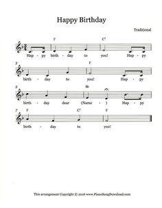 Happy birthday music sheet pdf
