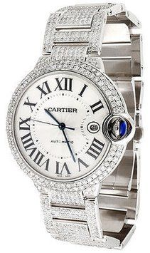 Mens Ballon Bleu De Cartier Large Fully Loaded Diamond 14.5 Ct 39mm Watch. Get the lowest price on Mens Ballon Bleu De Cartier Large Fully Loaded Diamond 14.5 Ct 39mm Watch and other fabulous designer clothing and accessories! Shop Tradesy now