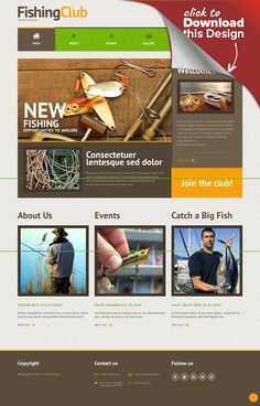 Fishing Responsive WordPress Theme CMS & Blog Templates, WordPress Themes, Sports, Outdoors & Travel, Sport Templates, Fishing Templates