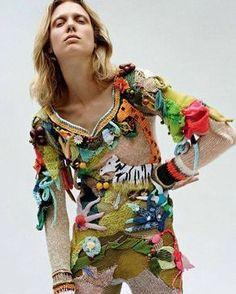 Claire Tough's Fabulous Knitted Body Suit.  #knitwear #extraordinary #extraordinaire #bodysuit #unique #colorful #otb #ott #edge #fresh #originaldesign #creative #extreme #playful #elaborate #iloveit #clairetough