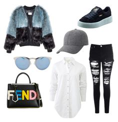 Out For Lunch by zstylez on Polyvore featuring polyvore, fashion, style, rag & bone, Glamorous, Puma, Fendi, Keds, Illesteva, women's clothing, women's fashion, women, female, woman, misses and juniors