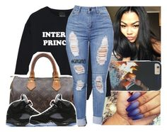 """this kinda ugly but oh well."" by lamamig ❤ liked on Polyvore featuring Louis Vuitton and NIKE"