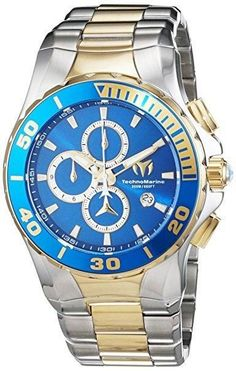 ff65569de1d Technomarine Men s Watch Two-Tone Stainless Steel Blue Sunray Dial  Chronograph