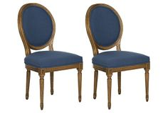 Navy Pencey Side Chairs, Pair on OneKingsLane.com