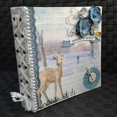Amy Voorthuis used her Misc. Me binder to create a storybook of her young sons adventures. Love how she used the Woodland Winter collection! #BoBunny, @Amy Lyons Lyons En Jeroen Voorthuis