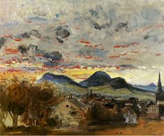 Sunset at Godramstein (1913) by Max Slevogt | issyparis