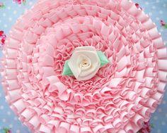Petal Pink Box Pleated Satin Ribbon/Trim