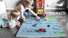 Kinderspielzeug selbstgemacht Stadt Auto
