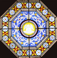 Victorian stained glass window.1867. Repaired, cleaned, new safety glazing and re-installed. Dennistoun, Glasgow. www.rdwglass.com