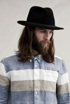 shirt and hat #menswear #clothing #style