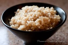 Pressure Cooker Brown Rice Recipe | Pressure Cooking Today