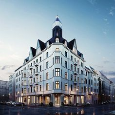 GLINT - Elegant properties for sale in the heart of Berlin China Architecture, Classic Architecture, Landscape Architecture, Eckhaus, Berlin Mitte, Classic Building, Building Concept, Hotels, New City