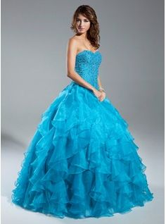 Quinceanera Dresses - $232.99 - Ball-Gown Sweetheart Floor-Length Organza Quinceanera Dress With Beading http://www.dressfirst.com/Ball-Gown-Sweetheart-Floor-Length-Organza-Quinceanera-Dress-With-Beading-021015343-g15343