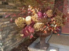 Fall Urn by Camrose Hill Flowers