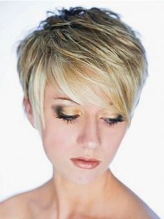 Style Blonde Straight Cropped Synthetic Wigs