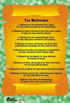 Mathitude Poster