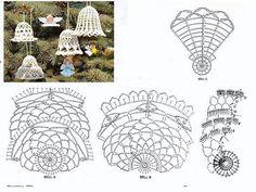Výsledek obrázku pro campanas a crochet paso a paso