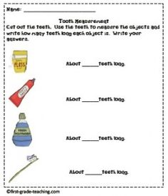 tooth measuring activity