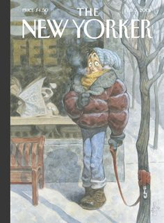 """The New Yorker - Monday, February 5, 2007 - Issue # 4202 - Vol. 82 - N° 49 - Cover """"Stay"""" by Peter de Sève"""