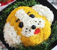 Новогодний мясной салат Желтая собачка - рецепты с фото
