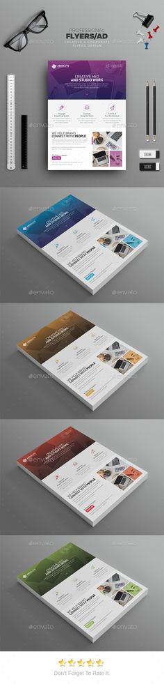 Corporate Flyer  — PSD Template • Only available here ➝ https://graphicriver.net/item/corporate-flyer/17702761?ref=pxcr