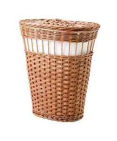 White dipped laundry hamper need x2 for the bathroom - Panier en osier ikea ...
