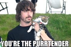 dave grohl and his cat hahhahaa
