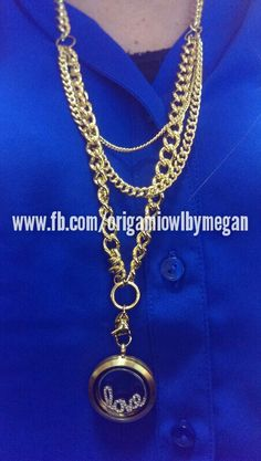 Origami Owl gold layered chain