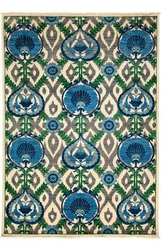 Darya Rugs Arts and Crafts Athena Ivory Rug | Southwestern Rugs #RugsUSA