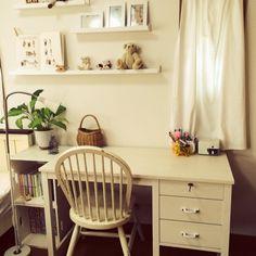 飾り棚/IKEA/モモナチュラル/子ども部屋/勉強机/My Desk…などのインテリア実例 - 2014-05-05 01:36:17 | RoomClip(ルームクリップ)