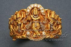 Magnificient Temple gold kada with lord krishna - Latest Jewellery Designs
