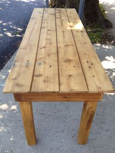 cedar farmhouse table made from an old door