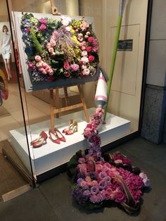#Addison Ross love #LKBennett in Sloane Square today for the #Chelsea Flower Show. Beautiful display!! Frame it in Addison Ross!