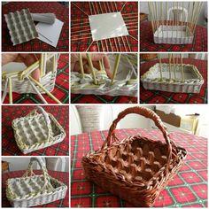 Wonderful DIY Easter Egg Basket From Newspaper
