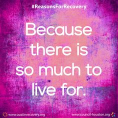 "September is National Recovery Month which aims to spread the positive message that behavioral health is essential to overall health, that prevention works, treatment is effective and people CAN and DO recover. To do our part, all month long we plan to showcase the many different reasons individuals choose and remain in recovery. One of those reasons is: ""Because there is so much to live for."" #RecoveryMonth #ReasonsForRecovery"