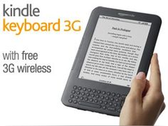 """Kindle Keyboard 3G, Free 3G + Wi-Fi, 6"""" E Ink Display - includes Special Offers & Sponsored Screensavers"""