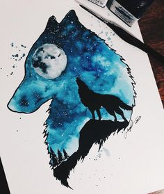Exquisite Learn To Draw Animals Ideas – Drawings Drawings, Art drawings, Double exposure art, Ar Love Drawings, Cartoon Drawings, Animal Drawings, Drawing Sketches, Art Drawings, Aesthetic Drawings, Simple Drawings, Pencil Drawings, Simple Wolf Drawing