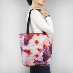 Birthday Blossom Tote Bag - December Narcissus