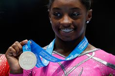 Simone Biles. (Getty Images) First African American to win at Gymnastics World Championships.