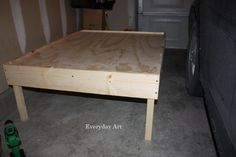 Everyday Art: DIY Train Table. I've been looking for a material list & plans for this :)