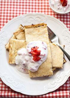 Finnish Oven baked pancake: eggs, milk, spelt flour. Scandi Home: http://scandifoodie.blogspot.com/2011/08/oven-baked-pancake.html#