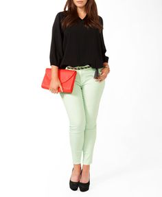 Colored Stretchy Skinny Jeans | FOREVER 21 - 2027704755